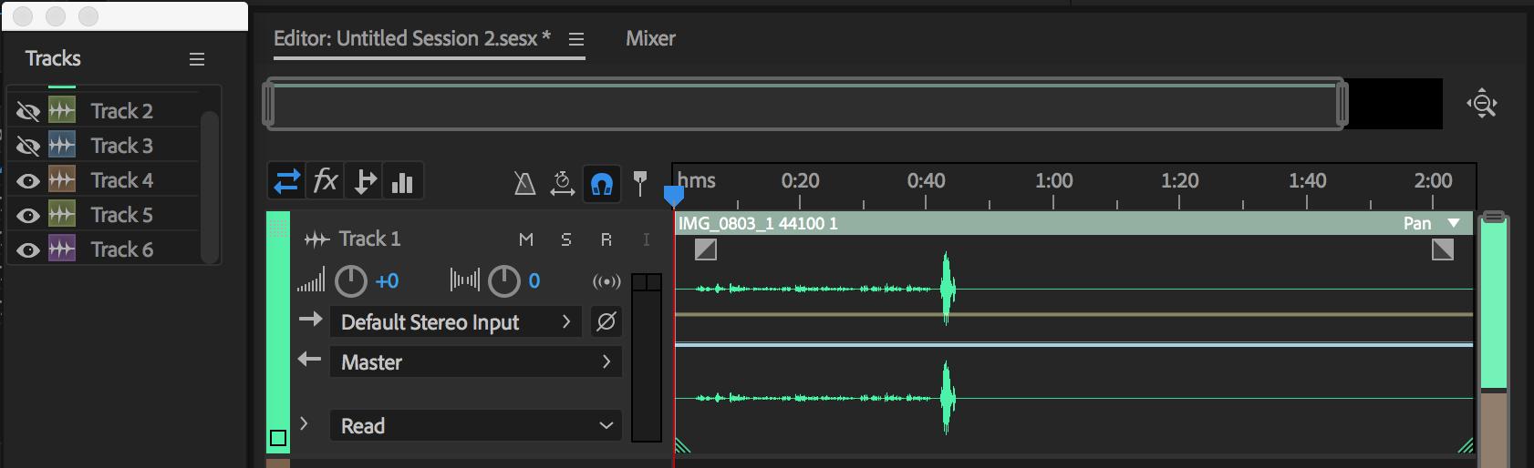 Use basic multitrack controls for Adobe Audition