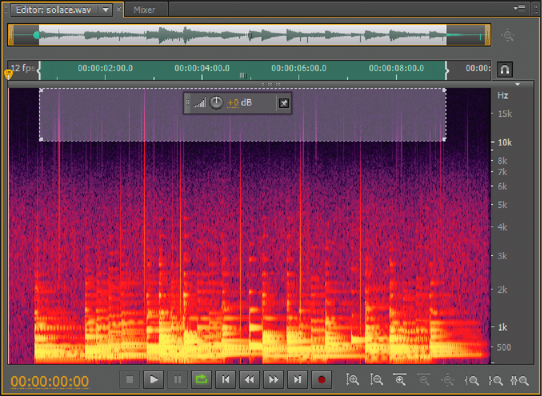 Display audio in the Waveform Editor with Adobe Audition