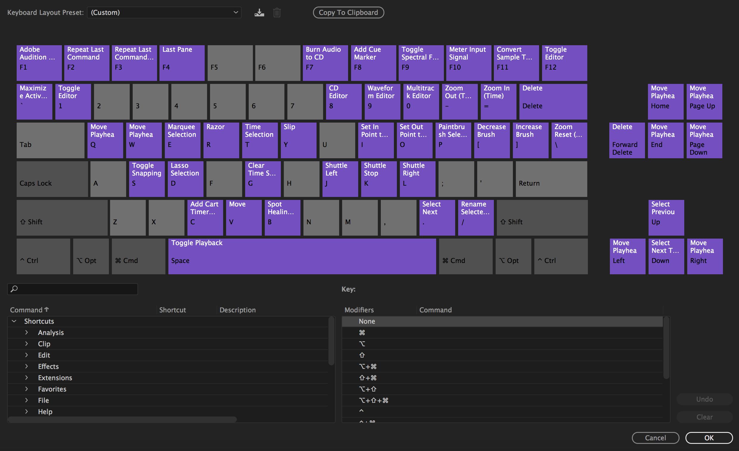 using the visual keyboard shortcuts and customizing shortcuts