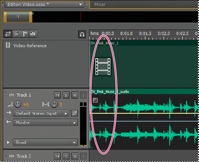 Import & work with video clips in Adobe Audition