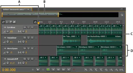 Understanding the multitrack editor