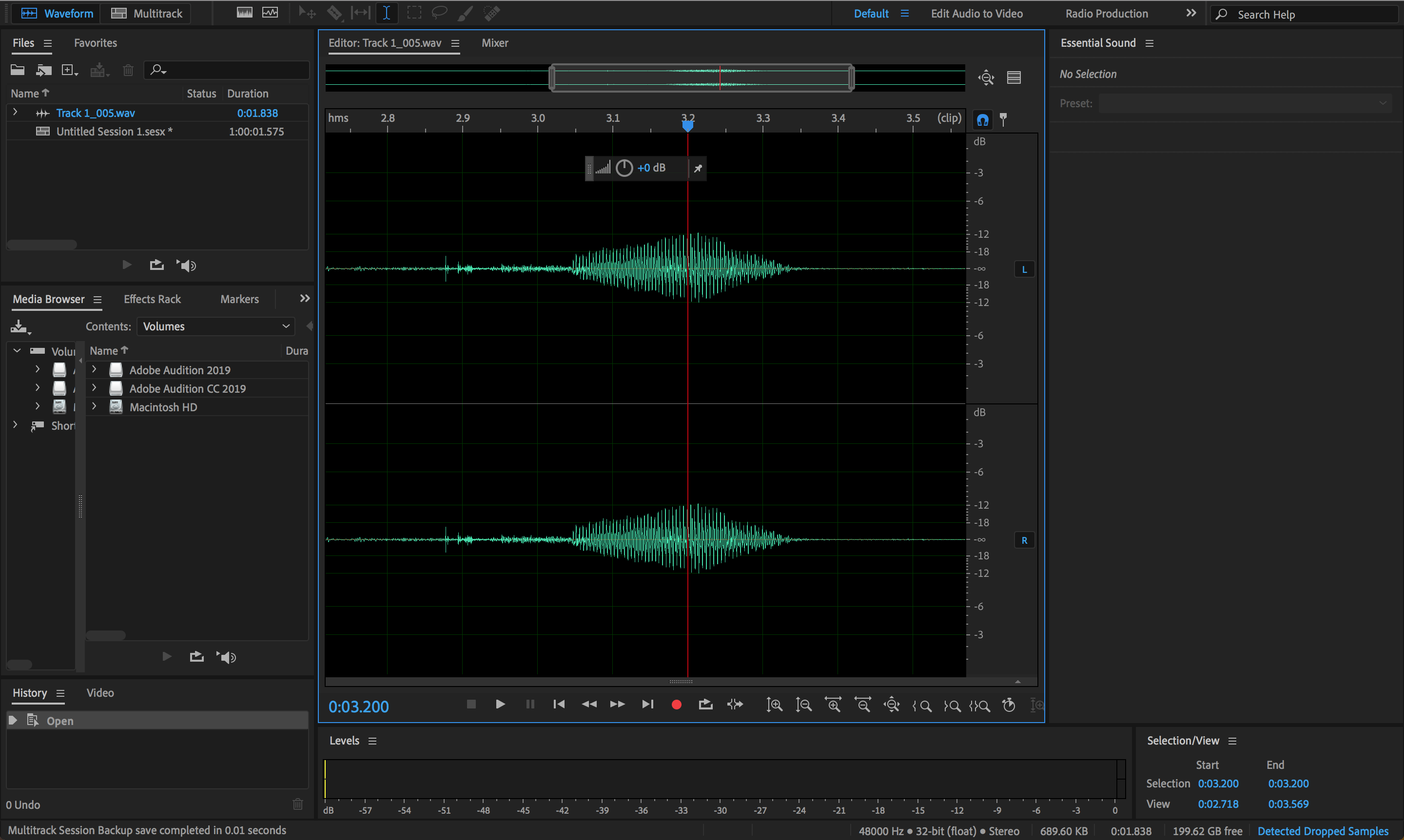 Basic Waveform view