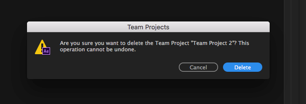 Permanently deleting your Team Project