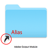 Alias icon on Mac OS X