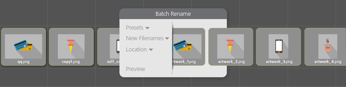 Run tasks from Tools menu, batch rename files, and auto