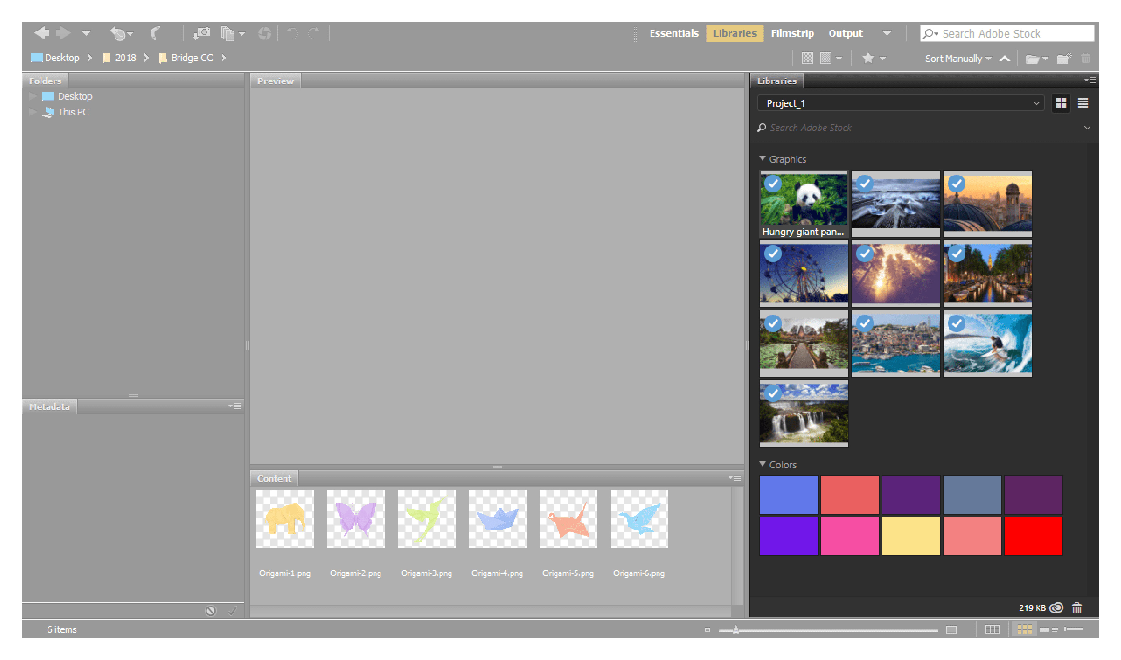 Access Creative Cloud Libraries in Bridge