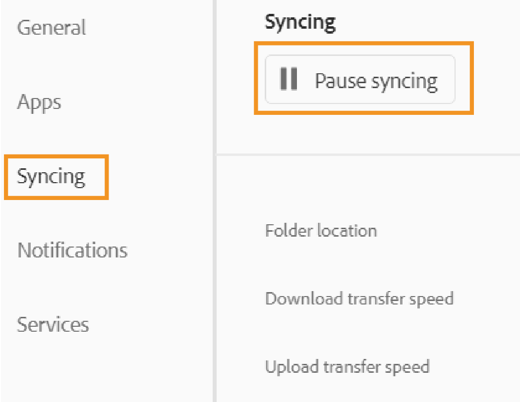 Enable syncing