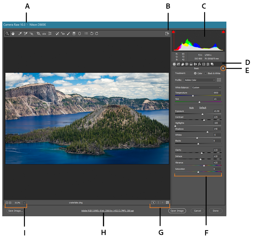 Introduction to Camera Raw files for Photoshop CC