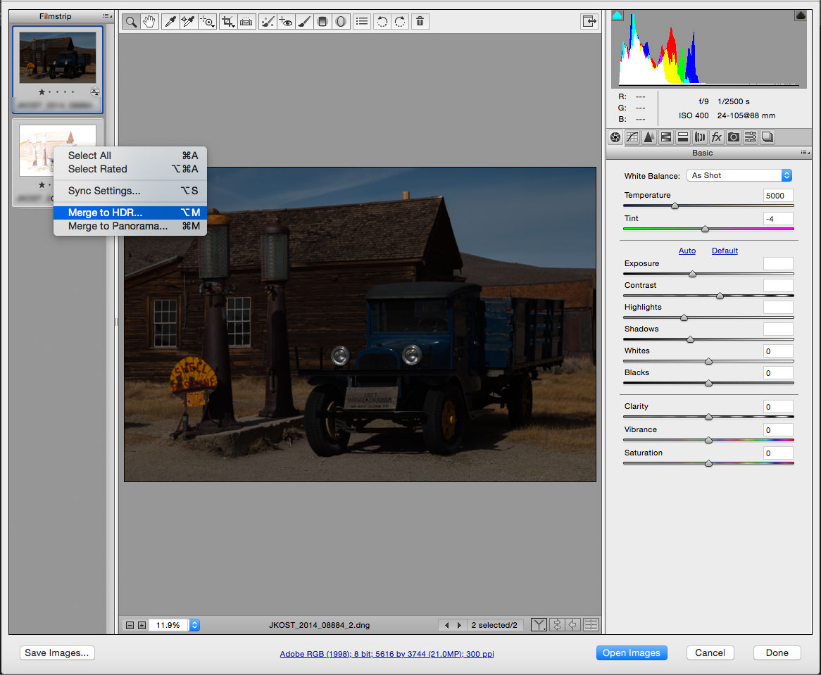 Learn about new features for Adobe Camera Raw 9.x.