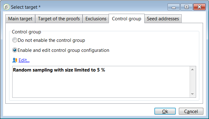 Control group tab