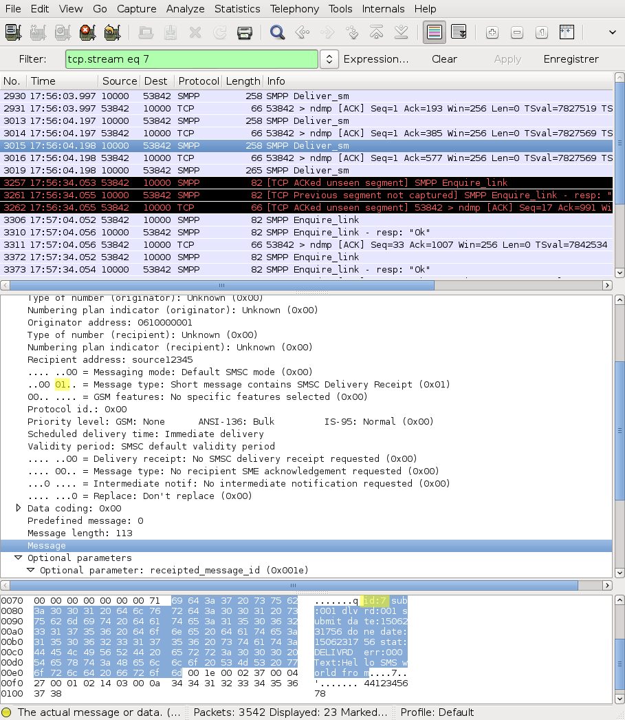 SMPP Protocol Analysis Using Wireshark