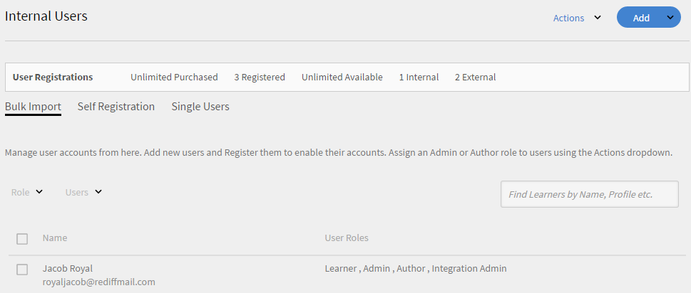 Add internal users