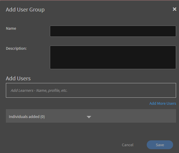 Customise user groups