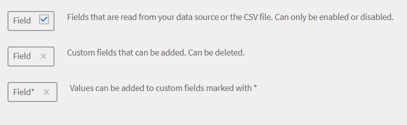Edit the sourced fields