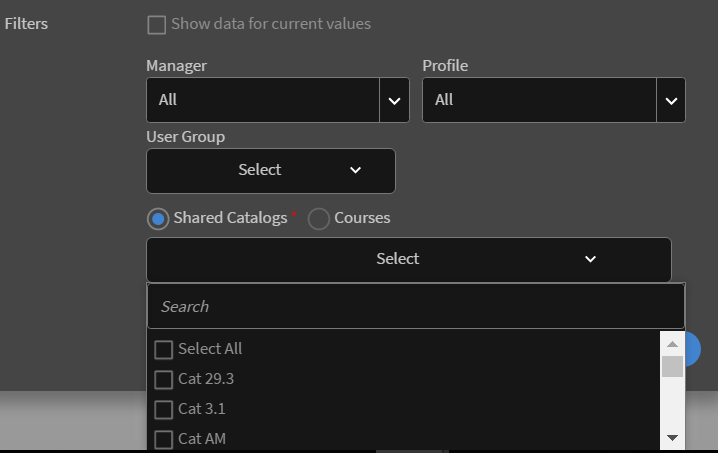 Select Shared Catalog for peer account