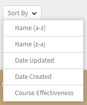 Filter list of courses