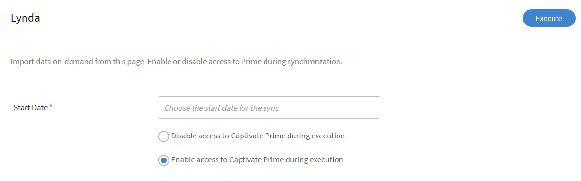Perform on-demand execution for Lynda connector