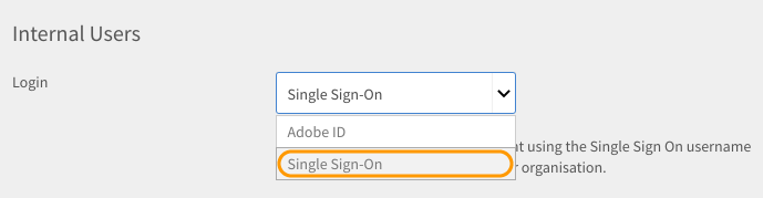 Selecione Configurar o Single Sign-On.
