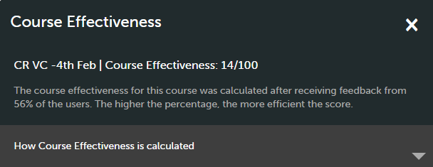 Course effectiveness