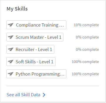 Click the My Skills widget from the Learner Home page