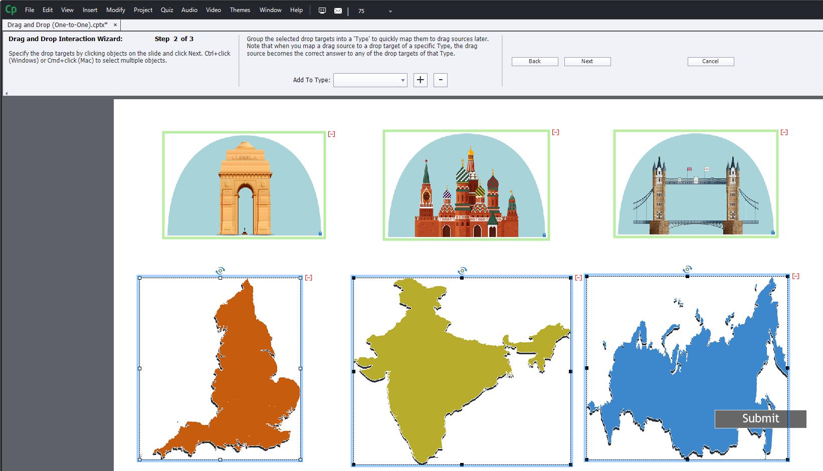 Einführung in Drag-and-Drop-Interaktionen von Adobe Captivate