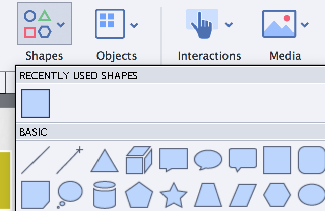 Add shapes to your project