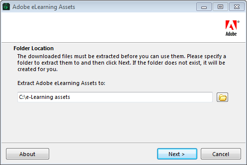 How to access Adobe e-Learning Assets