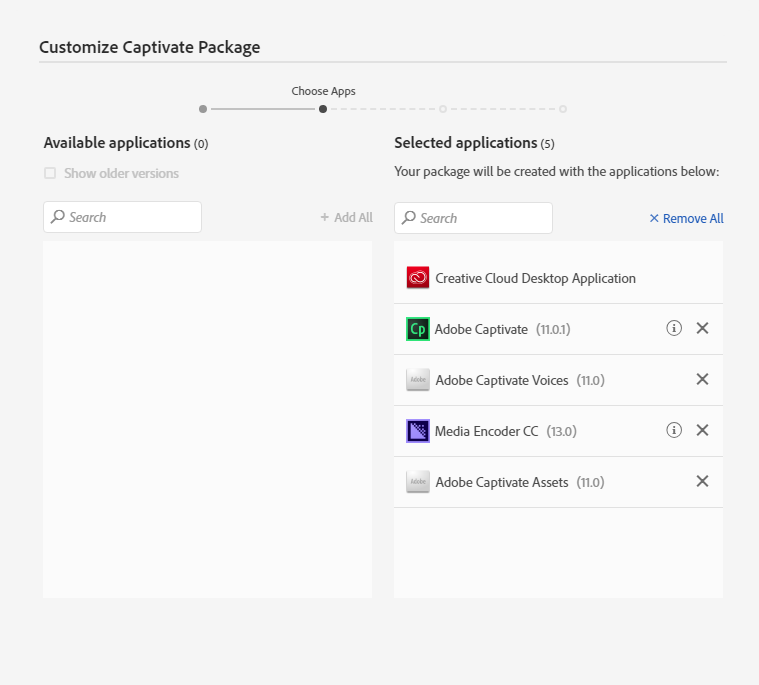 Captivate Package Customization