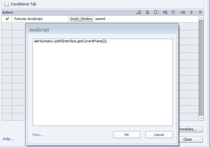 Using advanced actions in Adobe Captivate