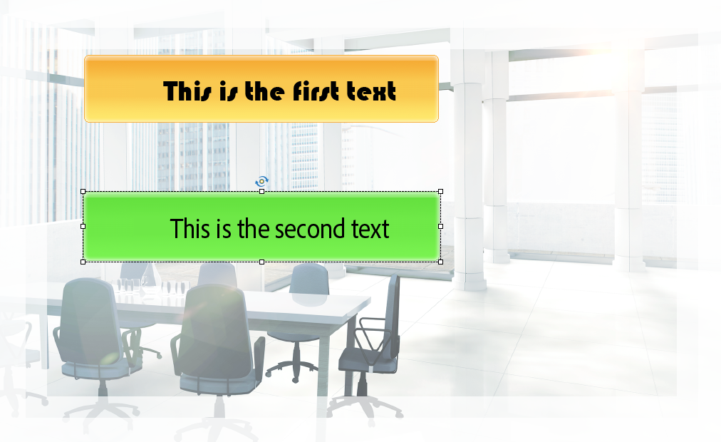 Second text object