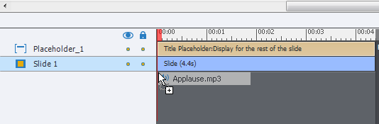 Audio file in timeline