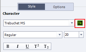 Adobe Typekit button