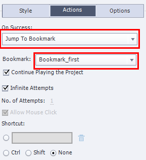 Jump to Bookmark
