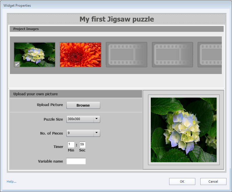 Jigsaw puzzle properties