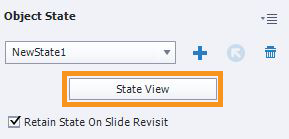 Click State View to see the object and its states