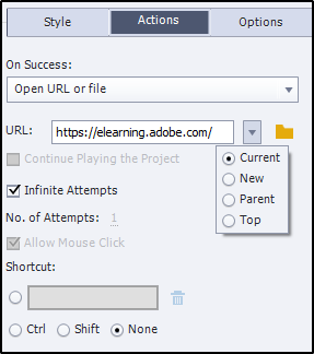 Options for opening URLs