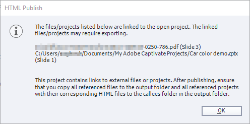 File export for publish