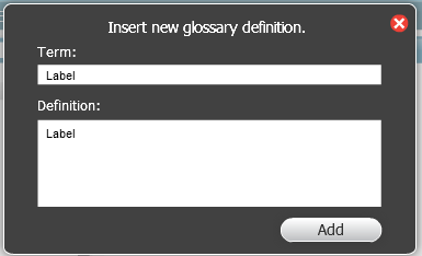 Add glossary term