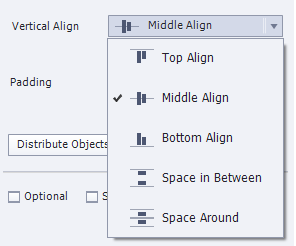 Vertical alignment options