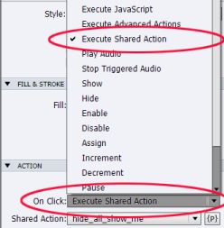 Executing shared actions