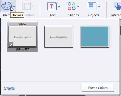Themes button