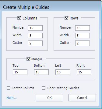 Creating multiple guides