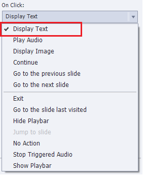 Display text- option