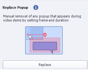Replace popup option