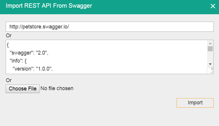 Swagger import