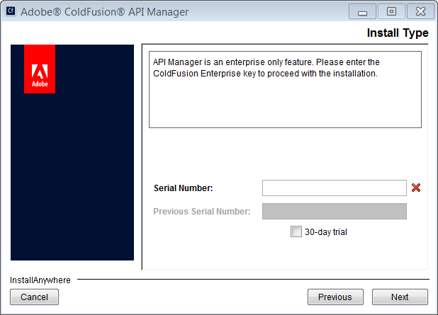 Installing ColdFusion 2016 API Manager