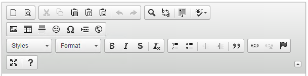 Custom toolbar