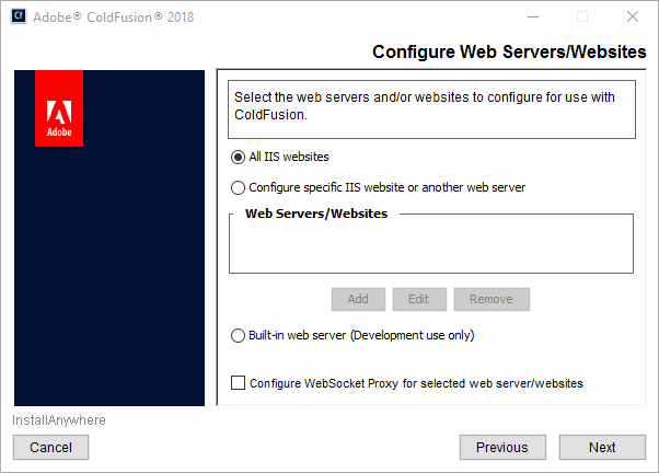 Install the server configuration