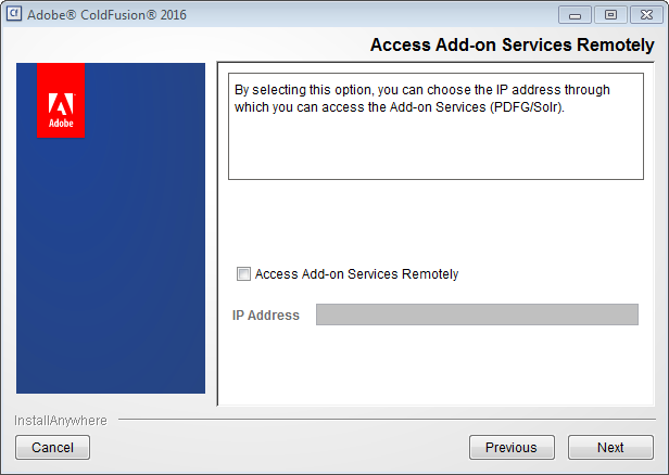 Add-on services remotely