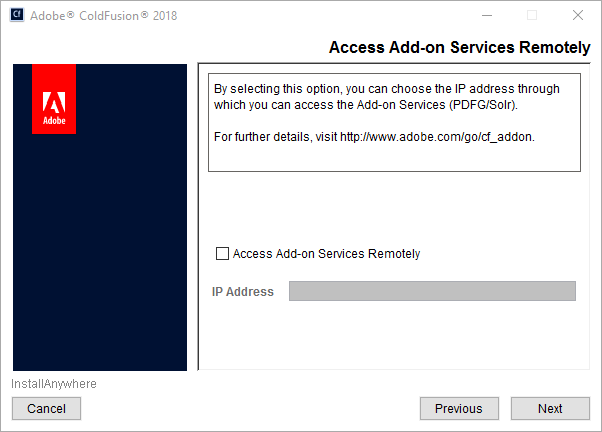 Access add-on services remotely
